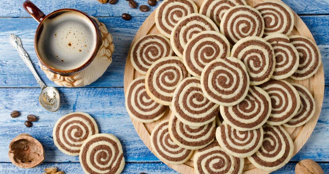 Biscoitos em Espiral