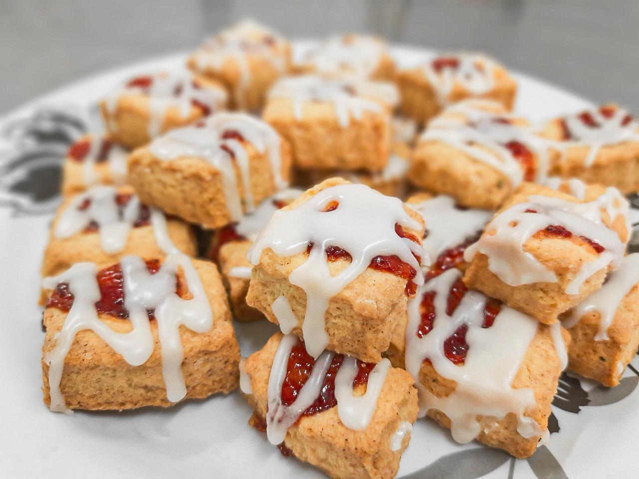 Biscoitos de Alecrim e Morango